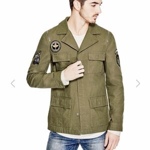 Guess Military Jacket Olive Green Size M